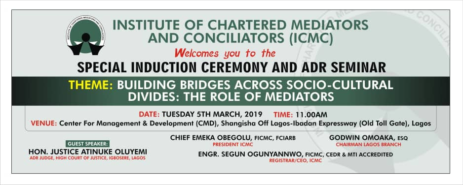 3b26b7e1d4437 ICMC Special Induction and ADR Seminar on March 5